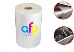 China Double Side Corona Treated Thermal Laminate Roll , Spot UV Varnish Thermal Film on sale