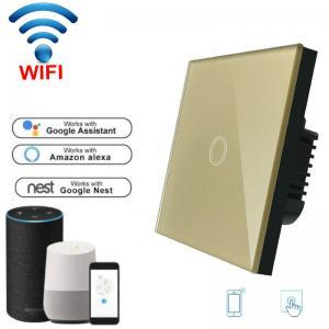 China Wireless Wifi Touch Switch EU Standard 1/2/3 Gang Smart Switch Google Home wifi light switch ewelink 90-240V on sale