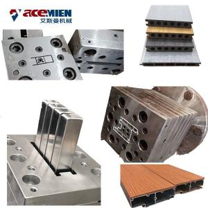 China Double Screw Wood Plastic Composite Production Line PE PVC WPC Profiles Machine on sale