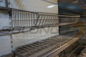 China 0.8mm Kick Metal Wire Baskets Gondola Shelving Accessories SGL-J-54 on sale