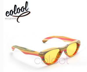 China Multi Color Bamboo Sun Glasses, Womens Sunglasses on sale