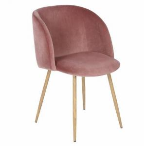 China Simple design wholesale beech wood red velvet fabric upholstery dining chairs on sale