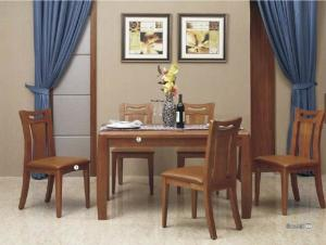 China Sharply Modern Kitchen Dining Sets Contemporary Wood Dining Table Veneer Finishing on sale
