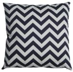 Home Chevron Patterned Cotton Cushion , Decorative Square Cushion