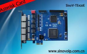 China SinoV-TE420P 4 E1 pci asterisk card on sale