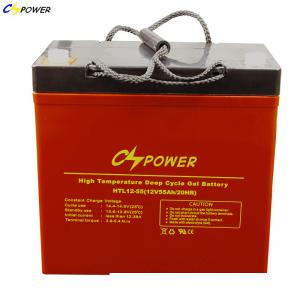 China High Temperature Storage Deep cycle Solar Gel Battery 12v 55Ah with 2 years warranty on sale