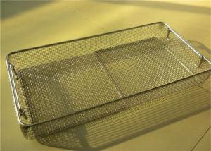 China Medical Sterilizing Galvanized Stainless Steel Wire Mesh Baskets For Instrument Cleaning on sale