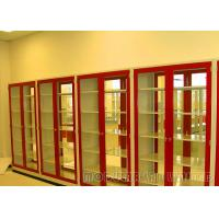 Red Color Chemical Storage Cabinets Steel Material With Knock Down Structure