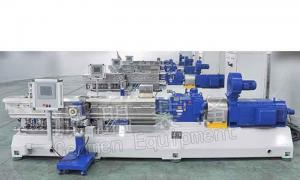 China High Output Plastic Compounding Line Auto Conical Twin Screw Extruder on sale