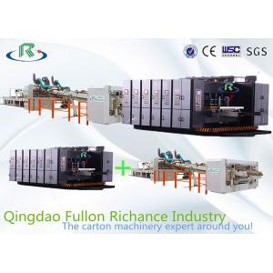 China Automatic Flexo Printing Slotting Die-Cutting Folder Gluer Strapping Inline Machine on sale
