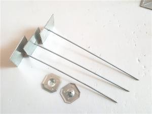 China Galvanized Steel Self Adhesive Insulation Pins 2 '' Washer For Insulation Sheet on sale