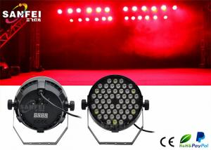 China 54x3w Rgbw Plastic LED Par Stage Lights For Party , 25 Degrees Angle on sale