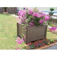 Square wood plastic composite WPC flower pot cheap flower pots balcony flower pots