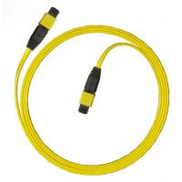 Yellow MPO - MPO cable Single Mode 9 / 125 2 Meters LSZH for Miniature Modules