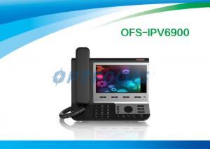 China Black 4 SIP Poe IP Video Phone Broadcom Wifi Chip for SysLog / Web Capture 0.99kg on sale
