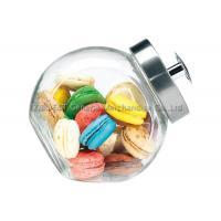 China 3L中型の台所ガラス貯蔵は金属のふた/大きいガラス クッキー用の瓶によって震動します on sale