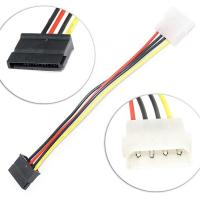 China Dual Molex 4 Pin To 8 Pin OD6mm SATA Extension Cable / Hard Drive Power Cord on sale