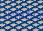 Perforated Architectural Expanded Metal , Blue / Red Steel Expanded Metal Mesh