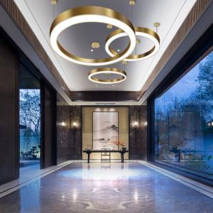 Modern Gold Round ceiling pendant lights For Kitchen Hotel Project