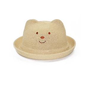 China Korean Version Baby Cat Ears Hat , Kids Summer Hats Straw Material on sale