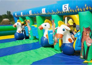 China PVC Tarpaulin Inflatable Horse Racing Game For Kids , 3 Years Warranty on sale