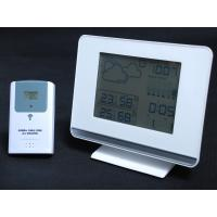 Professional weather station clock    plastic   White /Black