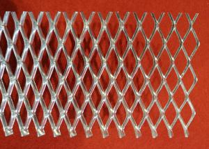 China 0 . 3 mm - 2 . 0 mm Thickness Flattened Expanded Metal Mesh With Power Coated on sale