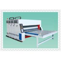three color semi-auto water ink automatic paper feeding printing slotting machine
