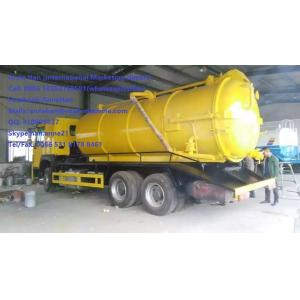 China SINOTRUK 6M3 290hp Sewage Suction Truck Septic Tank Pumping Truck EURO II Emission with 12.00R20 model Radial Tire on sale