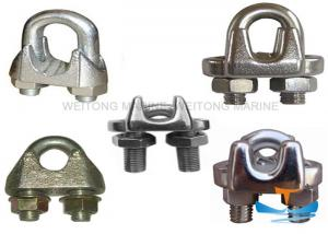 China Alloy Steel Material Galvanized Wire Rope Clips For Marine Wire Rope Fitting on sale