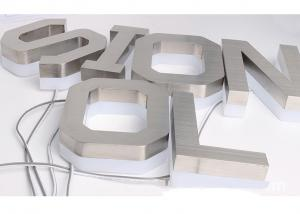 China Custom Back Lit Led Channel Letters Sign Stainless Steel For Outdoor Sign on sale