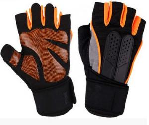 China Half Finger Outdoor Sport Gloves Microfiber Silica Anti Slip Breathable Exercise on sale