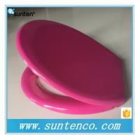 China Oval Universal Standard Soft Close Duroplast Purple Color Toilet Seat Prices on sale
