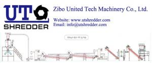 China Plastic PET bottle recycling line/ waste plastic shredder & recycling plant - Zibo United Tech Machinery Co., Ltd. on sale