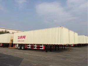 China 2/3 Axles Corrugated Plate Van Semi-trailer , 40 Tons Closed Dry Van Trailer For Transporting Enterprise on sale
