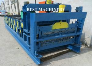 China Roof Tile Roll Forming Machine Double Deck Various Profile Corrugated and Glazed on sale