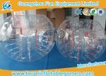 Location gonflable transparente du football de boule de bulle avec l'impression en soie, grande exécution