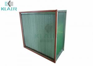 China 250℃ High Temperature Hepa Filter For Pharma Industry / Food Processing on sale
