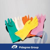 China Premium flocklined / Unlined Household Latex Gloves 40g on sale