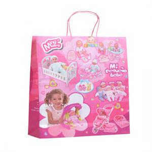 China Twisted Handle Custom Printed Paper Bags Chrismas C2S Coated CMYK Reusable on sale