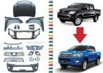 Facelift for Toyota Hilux Vigo 2009 and 2012 , Upgrade Body Kits to Hilux Revo 2016