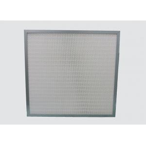 Mini Pleat Medium Clean Air HEPA Filter Galvanized Frame Synthetic Fiber
