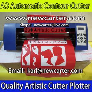 China A3 Contour Cutting Plotter Silhouette Cameo Graphtec Protrait ARM Vinyl Cutter 330 Contour on sale
