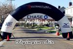 Black Inflatable Start and Finish Arch for Business and Events
