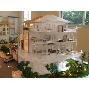 China Miniature scale model villa with interior furniture , handmade architectural model making factory on sale