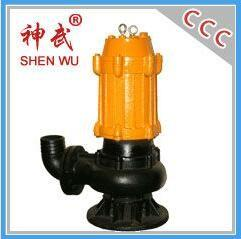 China 1.1kw small type cast iron drain water pump, 15m3/h,9m sewage submersible pump on sale