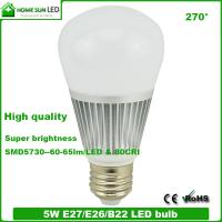 China G60 5W E27 B22 LED bulb lights on sale