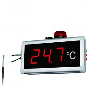 China Red Led Display Digital Indoor Outdoor Thermometer Hygrometer 40 Meters Long Visual Distance on sale