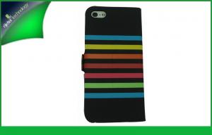 China Hybrid Color Fashion Shinny Apple Iphone Leather Cases With Credit Card Slot on sale