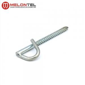 China Galvanized Retractor Screw Eye Hooks Outdoor P Type For Fiber Optic Cabling MT 1706 on sale
